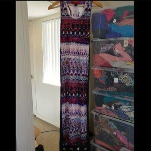 Maxi Blue purple Dress,  NWT